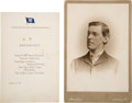 Autographs:U.S. Presidents, Woodrow Wilson: Signed Cabinet Card and Bonus.... (Total: 2 Items)