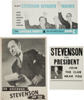 Political:Posters & Broadsides (1896-present), Adlai Stevenson: Three Better Posters.... (Total: 3 Items)