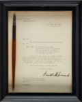 Political:Presidential Relics, Franklin D. Roosevelt: 1940 Naval Buildup Bill Signing Pen. ...