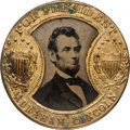 Political:Ferrotypes / Photo Badges (pre-1896), Abraham Lincoln: Back-to-Back Gault Frame Ferrotype....