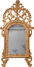 Furniture : Continental, A Continental Rococo-Style Carved Giltwood Mirror, 19th century. 65inches high x 34 inches wide (165.1 x 86.4 cm). ...
