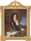 Paintings, An Oil on Canvas Portrait of Louis, Count Vermandois, after Pierre Mignard, 18th-19th century, in Georgian period gilt frame...