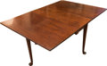 Furniture , A Queen Anne-Style Mahogany Gate-Leg Table, late 19th century. 28 h x 42 w x 61 d inches (71.1 x 106.7 x 154.9 cm). ...
