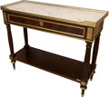 Furniture , A Pair of Manheim Louis XVI-Style Mahogany, Marble, and Gilt Bronze-Mounted Console Dessertes, late 20th century. 34 h x 41-... (Total: 2 Items)