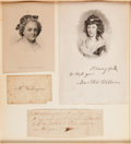 Political:Presidential Relics, Martha Washington: Engraved Calling Card with Provenance....