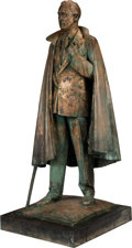 Antiques:Decorative Americana, Franklin D. Roosevelt: Standing Copper Sculpture. ...