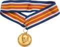 Entertainment Collectibles:TV & Radio, Al Jolson Gold Award Medal Presented to Jerry Colonna....
