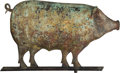 Antiques:Decorative Americana, American Folk Art: Pig Weathervane....