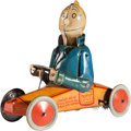 "Antiques:Toys, Jiggs Comic Character Windup Tin Car, 6.25"" Long...."