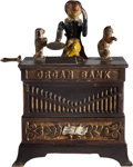 Antiques:Toys, Organ Cast Iron Mechanical Bank, Made by Kyser & Rex....