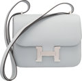 Luxury Accessories:Bags, Hermes 18cm Blue Glacier Epsom Leather Double Gusset Constance Bagwith Palladium Hardware. X, 2016. PristineConditio...