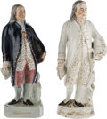 "Antiques:Decorative Americana, Benjamin Franklin: Mislabeled ""Washington"" Figurines.... (Total: 2Items)"