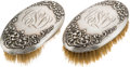 Antiques:Decorative Americana, Clarence Darrow: Personal Hair Brush Grooming Set. ... (Total: 2Items)