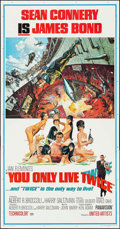 "Movie Posters:James Bond, You Only Live Twice (United Artists, 1967). Three Sheet (41"" X79""). James Bond.. ..."