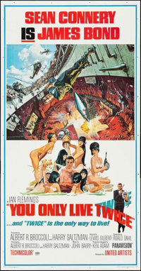 "You Only Live Twice (United Artists, 1967). Three Sheet (41"" X 79""). James Bond"