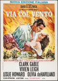 "Movie Posters:Academy Award Winners, Gone with the Wind (MGM, R-1980s). Italian 2 - Fogli (39.25"" X 55""). Academy Award Winners.. ..."