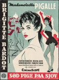 """Movie Posters:Foreign, Mam'zelle Pigalle (Constantin Films, 1956). Danish Poster (24.25"""" X 33""""). Foreign.. ..."""
