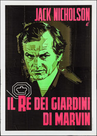 "The King of Marvin Gardens (Columbia, 1976). First Release Italian 4 - Fogli (55.25"" X 77.25""). Crime"