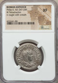 Ancients:Roman Provincial , Ancients: SYRIA. Antioch. Philip II (AD 247-249). BIL tetradrachm.NGC XF....