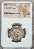 Ancients:Roman Provincial , Ancients: SYRIA. Antioch. Philip I (AD 244-249). BIL tetradrachm.NGC AU....