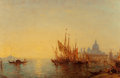 Paintings, Félix Ziem (French, 1821-1911). Bacino di San Marco. Oil on panel. 21 x 32 inches (53.3 x 81.3 cm). Signed lower left:...