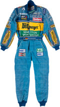 Miscellaneous Collectibles:General, 1995 Michael Schumacher Race Worn Fire Suit--Photo Match to 1995Belgian Grand Prix Victory....
