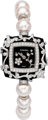 "Chanel 18K White Gold, Diamond & Cultured Pearl Lady's Watch Pristine Condition 1"" Width x 7"" Length..."