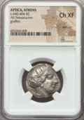 Ancients:Greek, Ancients: ATTICA. Athens. Ca. 440-404 BC. AR tetradrachm (17.13gm). NGC Choice XF, test cut....