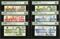 "Canadian Currency: , Matching Serial Number ""482"" Set 1986-91.. ... (Total: 6 notes)"