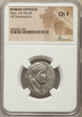 Ancients:Roman Provincial , Ancients: SELEUCIS and PIERIA. Antioch. Nero (AD 54-68.) ARtetradrachm. NGC Choice Fine....