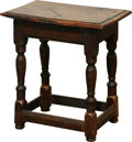 Furniture : Continental, A Diminutive Continental Oak Side Table, late 18th/early 19thcentury. 19 h x 17-1/2 w x 11-1/2 d inches (48.3 x 44.5 x 29.2...