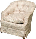 Furniture , An Upholstered Lounge Chair, 20th century. 31-1/2 h x 29 w x 28-1/2 d inches (80.0 x 73.7 x 72.4 cm). ...