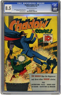 Shadow Comics v2 #6 (Street & Smith, 1942) CGC VF+ 8.5 Cream to off-white pages