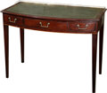 Furniture , A George III-Style Mahogany Writing Desk with Leather Top, late 19th century. 31 h x 40 w x 21 d inches (78.7 x 101.6 x 53.3...