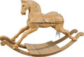 Furniture , A Carved Pine Child's Rocking Horse. 45 inches high (114.3 cm). ...