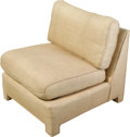 Furniture , An Upholstered Lounge Chair, mid to late 20th century. 32-1/2 h x 32 w x 36 d inches (82.6 x 81.3 x 91.4 cm). ...