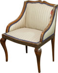 Furniture , A Small French Empire-Style Upholstered Chair, early 20th century. 29 h x 23 w x 17-1/2 d inches (73.7 x 58.4 x 44.5 cm). ...