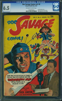 Doc Savage Comics V2#6 (Street & Smith, 1943) CGC FN+ 6.5 Off-white to white pages