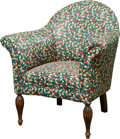 Furniture , An Upholstered Mahogany Armchair, 20th century. 34-1/4 x 32 x 29 inches (87.0 x 81.3 x 73.7 cm). ...