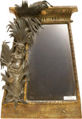 Decorative Arts, Continental:Other , An Art Deco Egyptian Revival-Style Patinated Bronze EaselbackMirror, circa 1920-1930. 16-3/4 inches high x 11-1/2 inches wi...