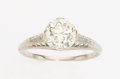 Estate Jewelry:Rings, Art Deco Diamond, White Gold Ring, Jones & Woodward. ...