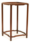 Asian:Chinese, A Small Chinese Hardwood Stand. 9-3/4 h x 5-1/2 w x 5-1/2 d inches(24.8 x 14.0 x 14.0 cm). ...