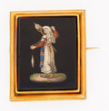 Estate Jewelry:Brooches - Pins, Micromosaic, Gold Brooch, 19th century . ...