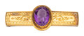Estate Jewelry:Brooches - Pins, Victorian Amethyst Intaglio, Gold Brooch . ...