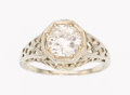 Estate Jewelry:Rings, Art Deco Diamond, Gold Ring . ...