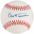 Baseball Collectibles:Balls, Leo Durocher Single Signed Baseball....