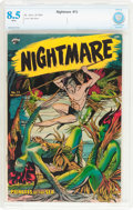 Golden Age (1938-1955):Horror, Nightmare #13 (St. John, 1954) CBCS VF+ 8.5 White pages....