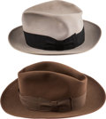 Political:Presidential Relics, Truman & Barkley: Pair of Personally-Owned Hats.... (Total: 2 Items)