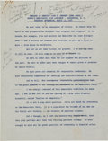 Political:Presidential Relics, John F. Kennedy: An Important Annotated Personal Reading of a Fascinating 1958 Speech....
