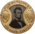 Political:Ferrotypes / Photo Badges (pre-1896), Abraham Lincoln: Back-to-Back Gault Frame Ferrotype. ...